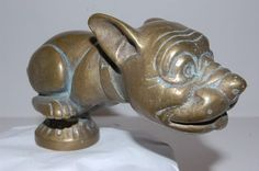 Bonzo Dog Telcote Pup Car Mascot  Hood Ornament 119. I must have one of these in chrome!