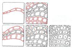 Stonework. Tangle Pattern by Suzanne McNeill.