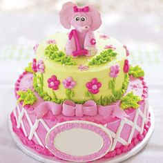 Pink Elephant Party, Elephant First Birthday, Elephant Cakes, First Birthday Cakes, First Birthday Parties, First Birthdays, Birthday Ideas, Elephant Theme, 4th Birthday