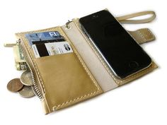 iPhone 5 case leather wallet  Magnetic  iPhone 4s от LeatherPurses, $43.00