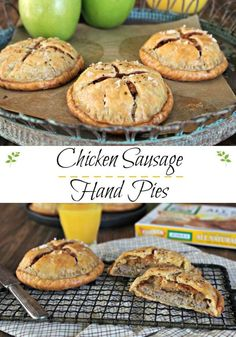 Chicken Sausage Hand Pies - Simply Sated / Breakfast month, sponsored post by Jones Dairy Farm