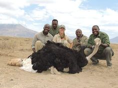 Not your usual hunt! Prois Field Staffer Crystal Ivy with another awesome kill from her African Safari!! Does ostrich taste like chicken? ‪#‎womenshunting‬ ‪#‎AfricanHunting‬