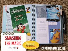 smashing the Disney magic with a smash book...this is such a GREAT idea for a travel journal/scrapbook!! (CapturingMagic.me)