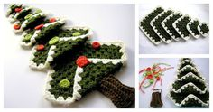 Vintage Granny Square Christmas Tree FREE Crochet Pattern
