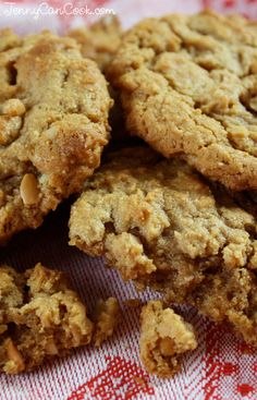 Easy Gluten Free Peanut Butter Cookies -,Unbelievably easy! One bowl. No mixer. No shaping. No flour. No butter. And my version has less sugar. They are beyond delicious!
