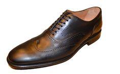 John Varvatos Men's Black Leather Oxfords