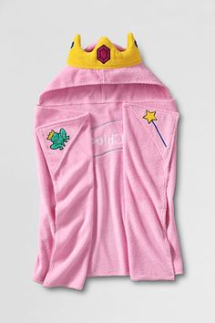 princess hooded towel from Lands' End