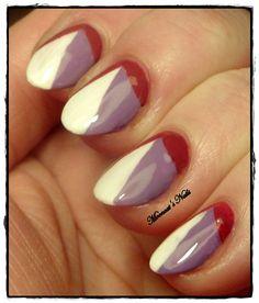 Colour block manicure
