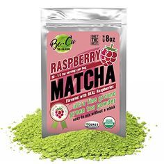 Raspberry Organic Matcha Green Tea Powder - 80 Servings, 8 oz - 2 Ingredients, Natural Flavored Instant Tea for Drinking, Smoothies or Baking, Grade A Matcha -- Check this awesome product by going to the link at the image. Matcha Green Tea Powder, Green Powder, Matcha Smoothie, Smoothies, Iced Tea Maker, Organic Matcha Green Tea, Happy Foods, 2 Ingredients, Raspberry