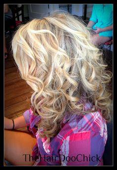 Blonde Curls! My hair (: