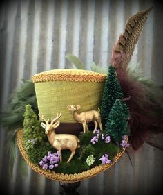 Mini Top Hat Alice in Wonderland Mini Top Hat Deer by ChikiBird
