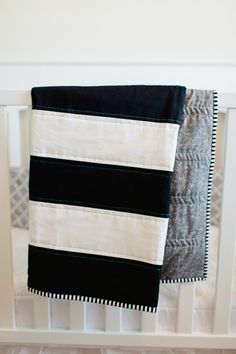 Black and White Striped Quilt