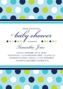 Mixbook Classic Colorful Dots Boys Baby Shower Invitations
