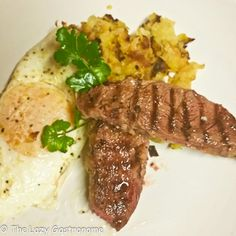 Following the breakfast theme, how does steak and eggs sound? I found a great little chuck steak for sale and thought, hmmm, I can do something with that. So off I went to create an intimate brea...