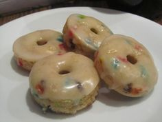 Cake Batter Donuts- I know I shouldn't, but I'm keeping this recipe for a special occasion! Birthday breakfasts' maybe!!