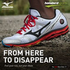 A Real Smooth Operator: The New Mizuno Wave Rider 17 Men is now available at holabirdsports.com