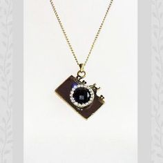 Bejeweled Choco Toy Camera Necklace