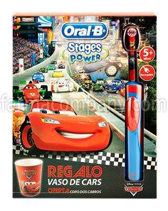 Oral-B Cepillo Dental Electrico Infantil Pack Vitality Stages Cars. Vaso de regalo. en Farmacompany.com