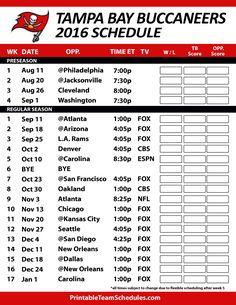 buccaneers 2016 schedule | Tampa Bay Buccaneers Printable Schedule 2016-17