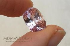Natural Pink Kunzite 6.11 ct. Fine pale gemstone with oval cut is perfect for use in jewellery, an engagement ring, pendant, etc. This pink gemstone has visible inclusions but is much better than the camera could capture, is elegant and sparkling.