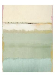 Tranquil Mark Rothko - soothing spring colors - pair with gold