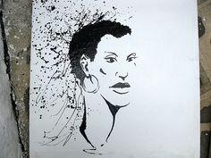 Black Venus Quadro quadro realizzato con la tecnica del dripping dal pittore Toni Marcovecchio