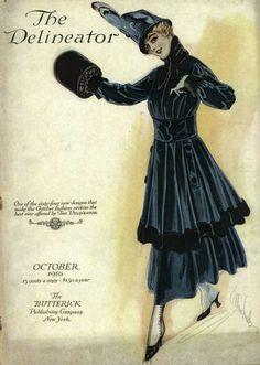 Walking dress, 1916 US, the Delineator