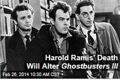 Latest News:  Harold Ramis' Death Will Alter Ghostbusters III.  Ghostbusters III will still be made following Harold Ramis' death, but the script will be reworked, according to the Hollywood Reporter. Ramis was originally to appear in a cameo in the sequel alongside fellow original co-stars Dan Aykroyd and Bill Murray; the trio was to pass the reins to a new ghostbusting team.  Get all the latest news on your favorite celebs at www.CelebrityDazzle.com!