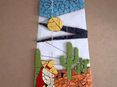MOSAICO Teja decorada con un acuario.wmv - YouTube Mosaic Pots, Mosaic Garden, Mosaic Glass, Stained Glass, Glass Art, Mosaic Crafts, Mosaic Projects, Free Mosaic Patterns, Mosaic Stepping Stones