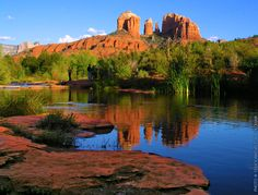 Cathedral Rocks in Sedona Arizona. One of my most favorite spots in the world. Even did a painting of this very spot.