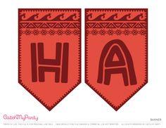 Free Moana Printables Happy Birthday Banner | CatchMyParty.com