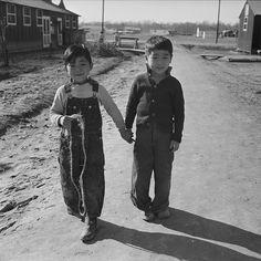 Japanese-American children at Jerome War Relocation Center, Arkansas, 18 Jan 1944 (US National Archives)