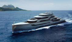 A luxury yacht