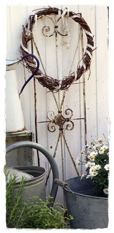 Wrap a ribbon around plain, stick wreath. Could change ribbons out with the season.