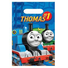 Thomas the Tank Engine Party Bags - Plastic Loot Bags £1.29 8pk