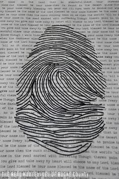 Fingerprint Artwork {Meaningful Art}