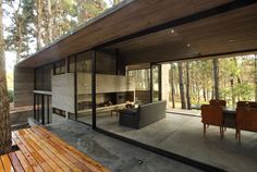 Two bedroom, two bath concrete house in Argentina: Casa Cher by BAK Architects on DesignRulz.com