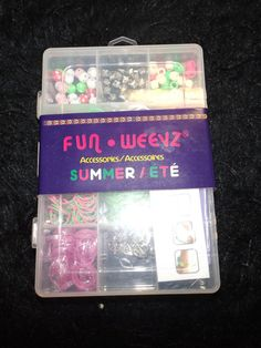 new Fun Weevz Summer time bracelet kit jewelry making slumber party 596 pcs #Claires