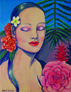 Acrylic on wood Akal Pritam Tatau Art Of Love, Rock Pools, Self Love, Disney Characters, Fictional Characters, Paradise, Wood, Painting, Natural Pools