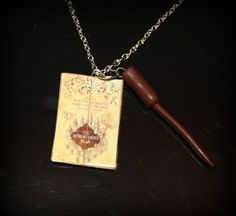 Harry Potter Marauder's Map  Polymer Clay Necklace