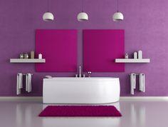 Pinke Wandfarbe – Wie können Sie Ihre Wände kreativ streichen? - trendfarbe 2014 pantone moderne badezimmer wandfarbe purpur
