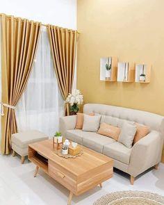 Small Living Room Design, Home Room Design, Living Room Modern, Living Room Designs, Living Room Decor, House Design, Living Rooms, Wooden Sofa Designs, Warm Home Decor