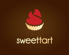 Sweettart Logo design - This logo could be used for a Pastry Shop/Bakery, Cake Decorator, Catering Service, Dessert Shop, Cafe, RestaurantInspiration: Sweet pastries with whipped toppings! Price $350.00
