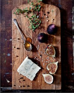 Cheese Plate Ideas - Figs with Gorgonzola and Honey