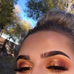 10 stunning smokey eye makeup looks Ecemella- copper eyeshadow -. - 10 stunning smokey eye makeup looks Ecemella- Copper Eyeshadow-… 10 Breathtaking Smokey Eye Makeu - Smokey Eye Makeup Look, Bronze Eye Makeup, Makeup Eye Looks, Cute Makeup, Gorgeous Makeup, Pretty Makeup, Skin Makeup, Eyeshadow Makeup, Drugstore Makeup