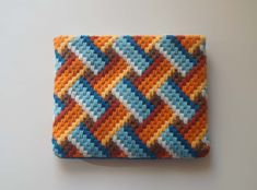 Deshilachado: Tarjeteros de bordado de tapiz / Bargello needlework card wallets