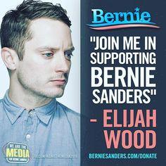 Elijah Wood Feels The Bern.