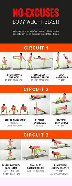 This No-Equipment Workout Will Tone Every Inch of Your Body ~ losing weight and fitness