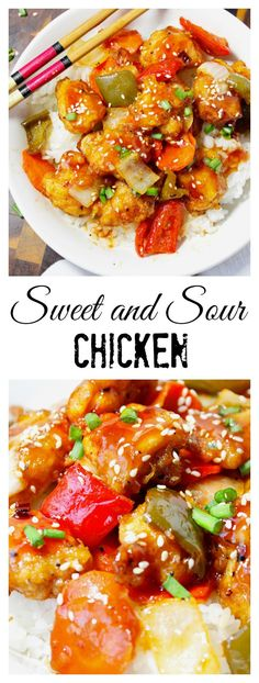 This sweet and sour chicken recipe is so much better then take out!