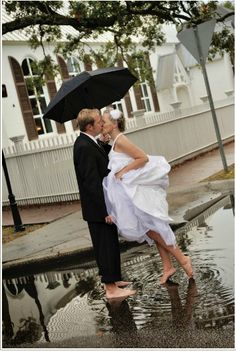 All I want is rain on my wedding day!  This is beautiful!!